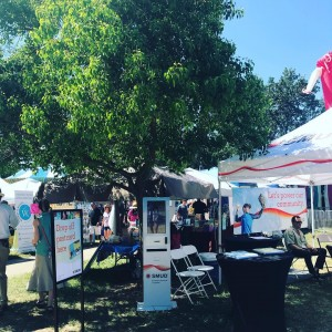 Sunny day in Sacramento as we provide free charger rentals courtesy of @mysmud at the pow wow fair. #fair #summer #chargerent #smud