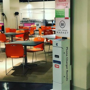 In need of a charge while @lasvegasmarket look for our kiosks in building C levels 1,3,7 and 11  #LVMkt #chargerent
