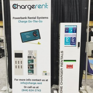 One of our kiosks @caltransit. If you are here and need to charge your device come to the expo and borrow a charger! #caltrans53