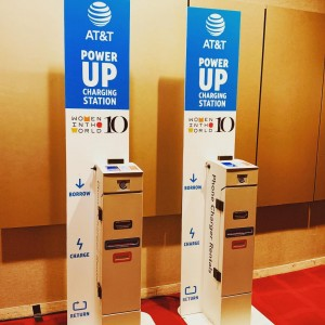 What a great event. We are proud to be at @womenintheworld Stop by our kiosks and borrow a free charger for the day compliments of @att