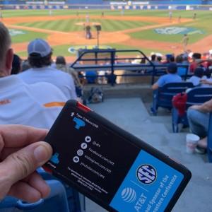 Keeping phone charged till the last inning with @att @sec baseball Finals #baseball #sec #att