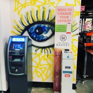 Another great day @lasvegasmarket If you need to charge your device look for one of our kiosks and borrow a charger for free. #lvmkt