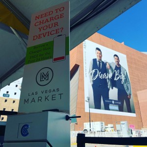 We are powering phones @lasvegasmarket this week. Come and borrow a charger for free in all buildings and the pavilion #lvmarket #charger #phonecharger